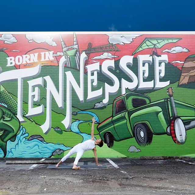 I may not have been born in Tennessee, but I've been a country music lover since 5th grade. This definitely didn't make me the coolest kid in a Los Angeles-based school. Yet I feel right at home here in #musiccity #nashville . The added bonus is that this town also boasts great yoga, food, and #wallart —- #balance #balancedliving #balancedlife #yogabalance #yogaforlife #hathayoga #astangavinyasa #roadtrippers #roadtrip #flowyoga #yogalover #yogadiversity #yogaroots #yogahistory #dailypractice #practiceyogadaily #yogalifestyle #yogateacherlifestyle #traveler #yogateacher #travel #tennessee #yoga4growth