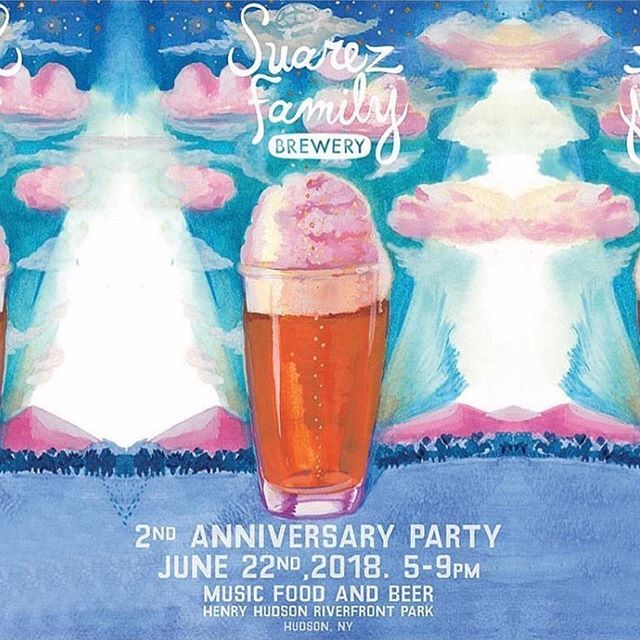 THIS FRIDAY! Come celebrate two years of @suarezfamilybrewery on the waterfront in Hudson! El Sueno will be there grilling some new creations along with other amazing local businesses. RSVP at the Suarez Family Brewery Facebook event page. See y'all there!