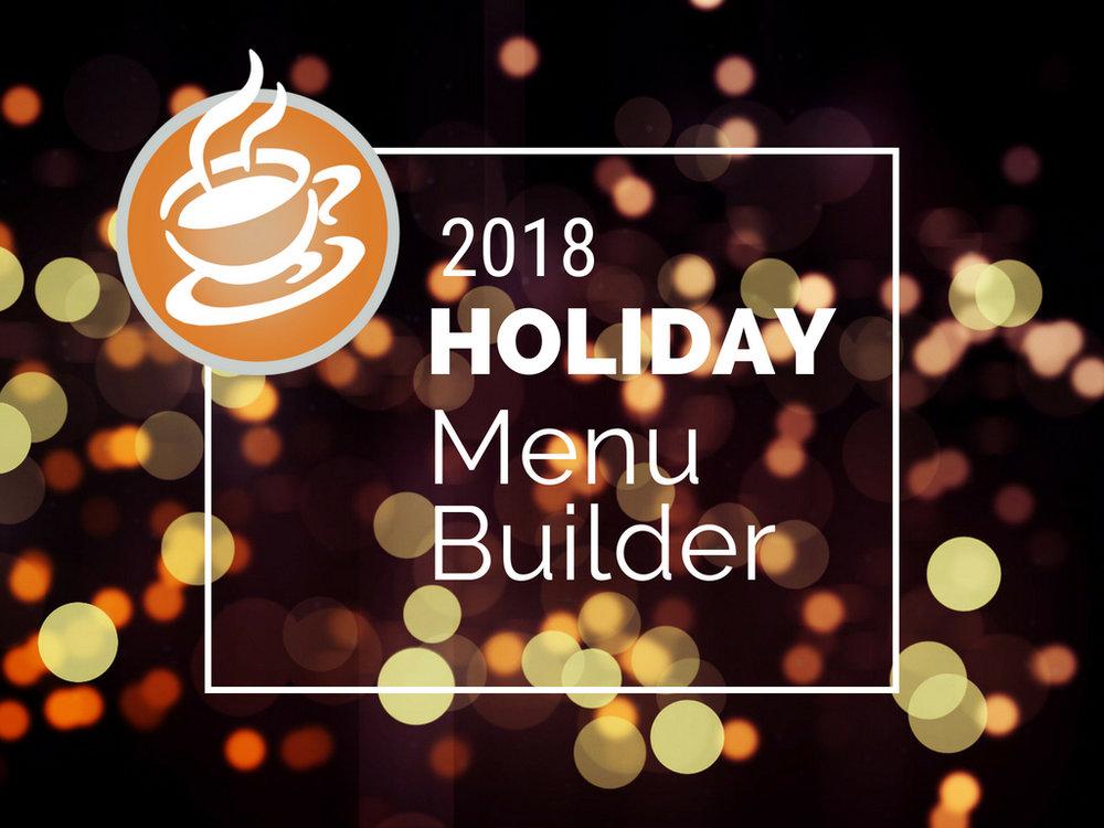 2018 COCO Holiday Menu Builder