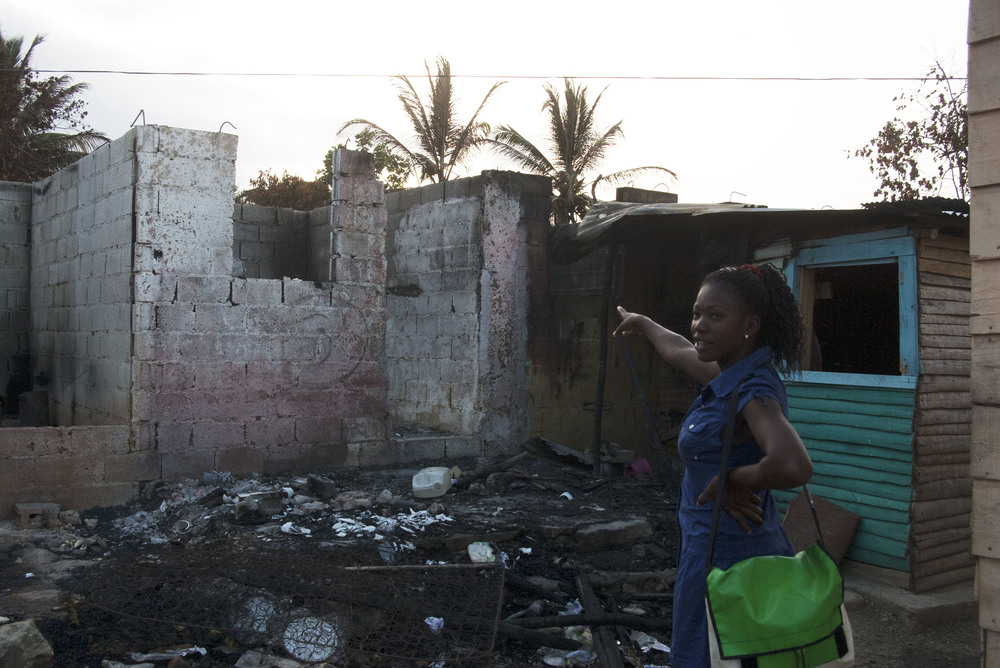"""""""Remains"""" -I talked with a girl who called herself """"My Love"""" who lived in the rear part of the village.The fire had consumed and destroyed, literally, everything that the residents had."""