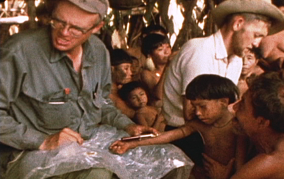 1968 expedition Taking Blood Samples for genetic study.jpg