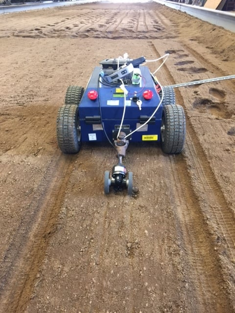 UAB Vehicle and Robotics Engineering Laboratory // UGV in test at the National Soil Dynamics Laboratory