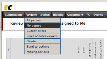 4.1 Menu setup for accessing paper assignments