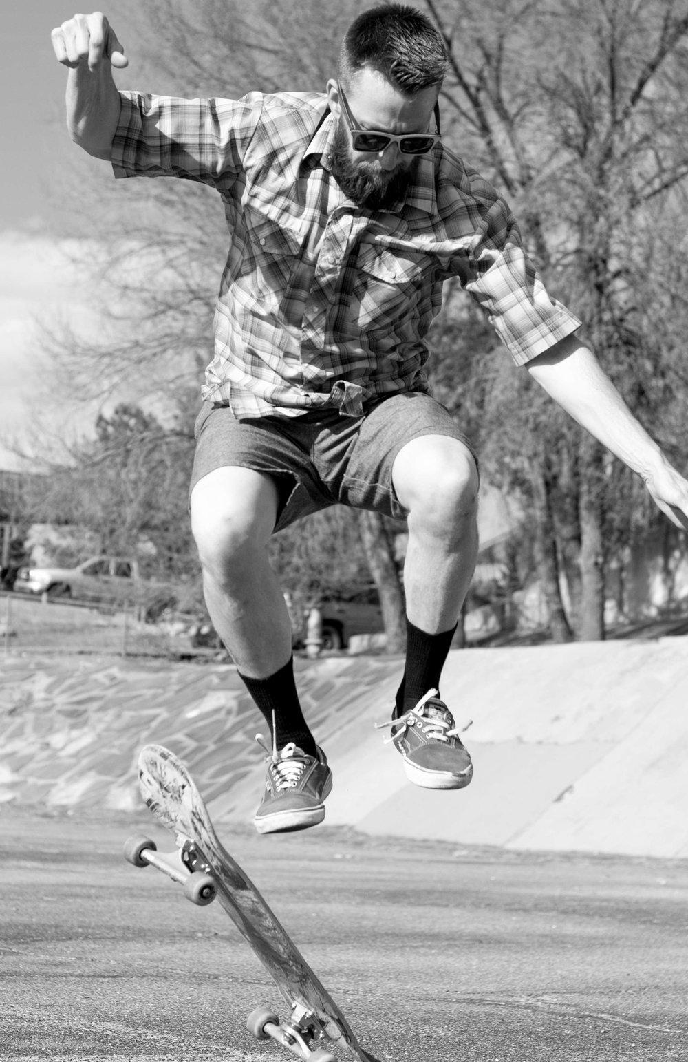 Skateboarder Jump