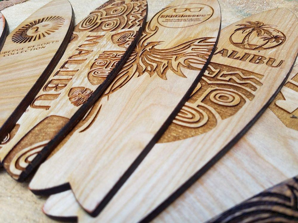 Mini Wooden Surfboards