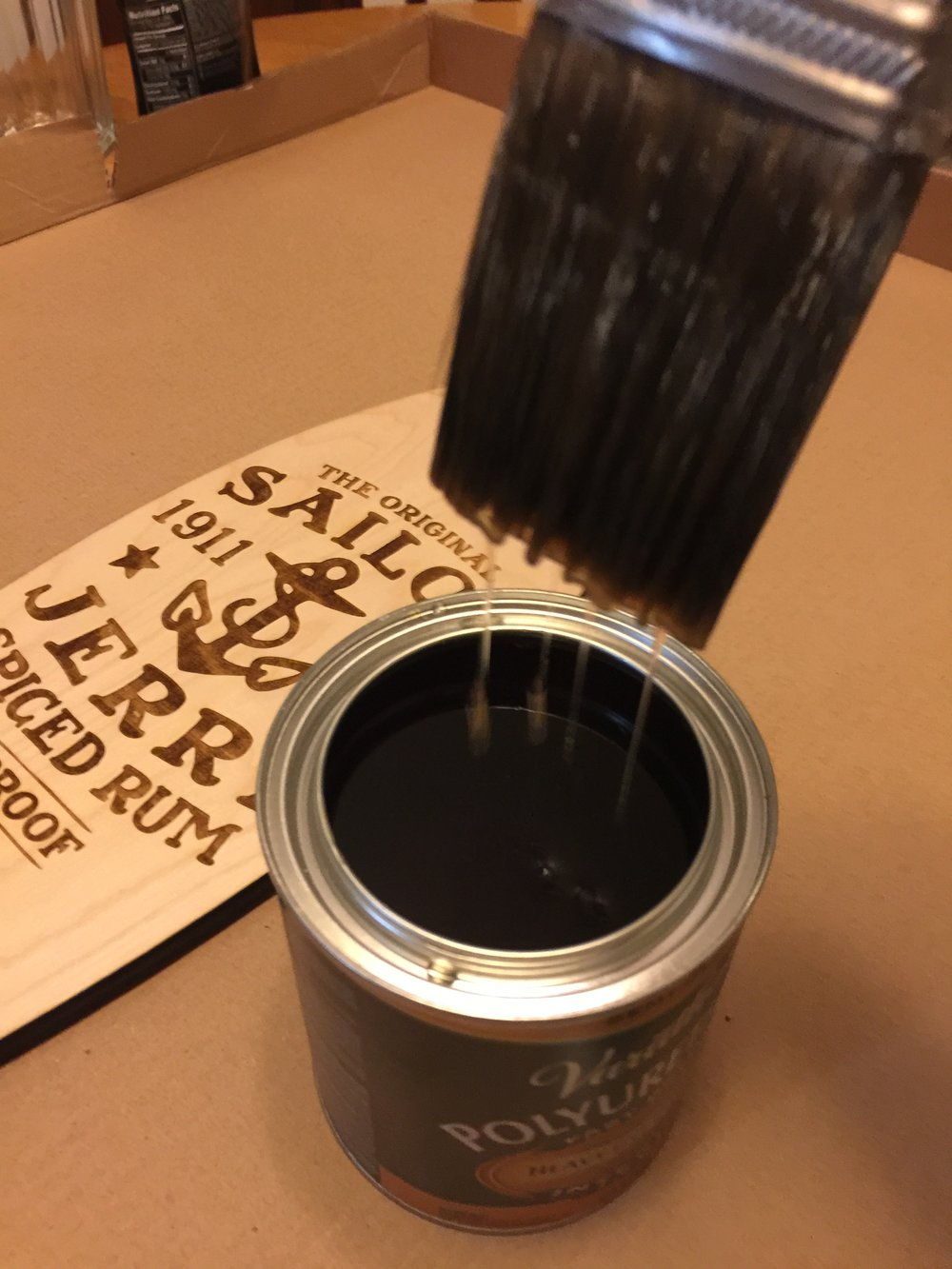 Paint Brush with Resin