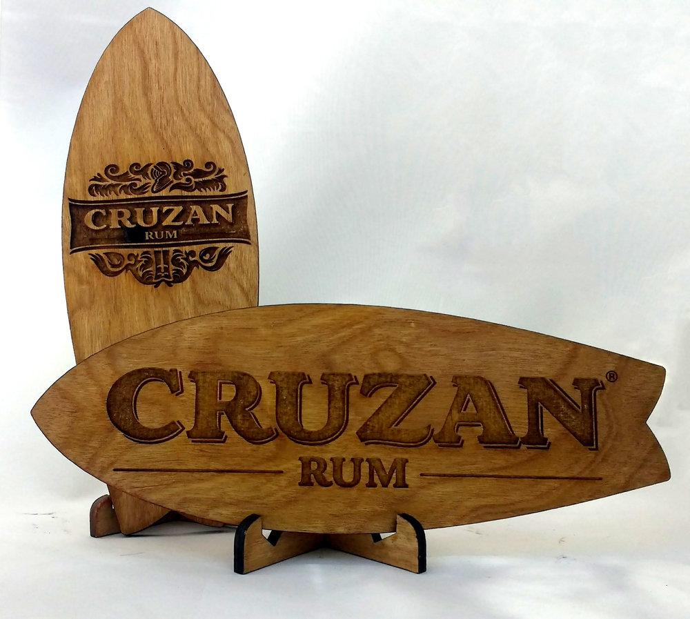 Cruzan Rum Mini Surfboards