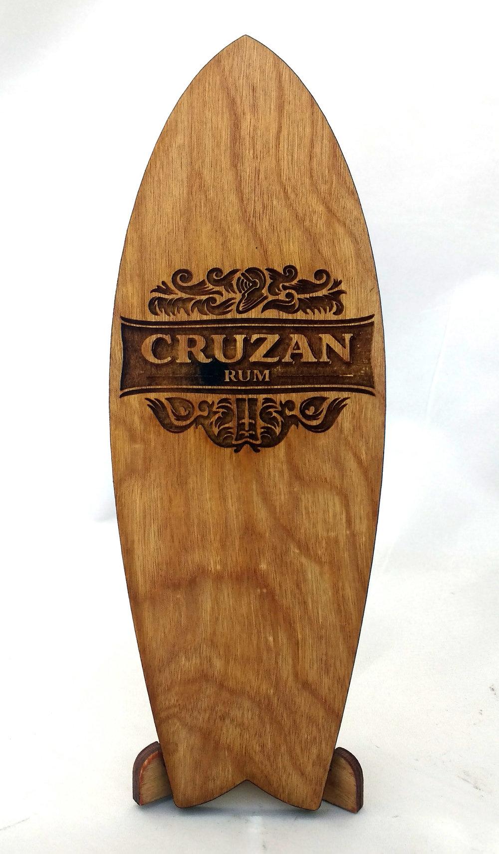Cruzan Rum Mini Surfboard