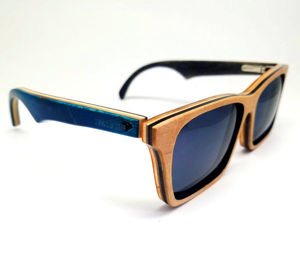 Blue Acer Sk8Glasses™ with logo