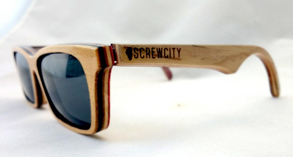 Natural Acer SK8Glasses™ with logo