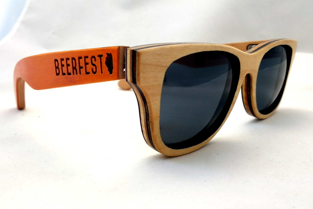 Orange Sycamore Screw City SK8Glasses™ with logo