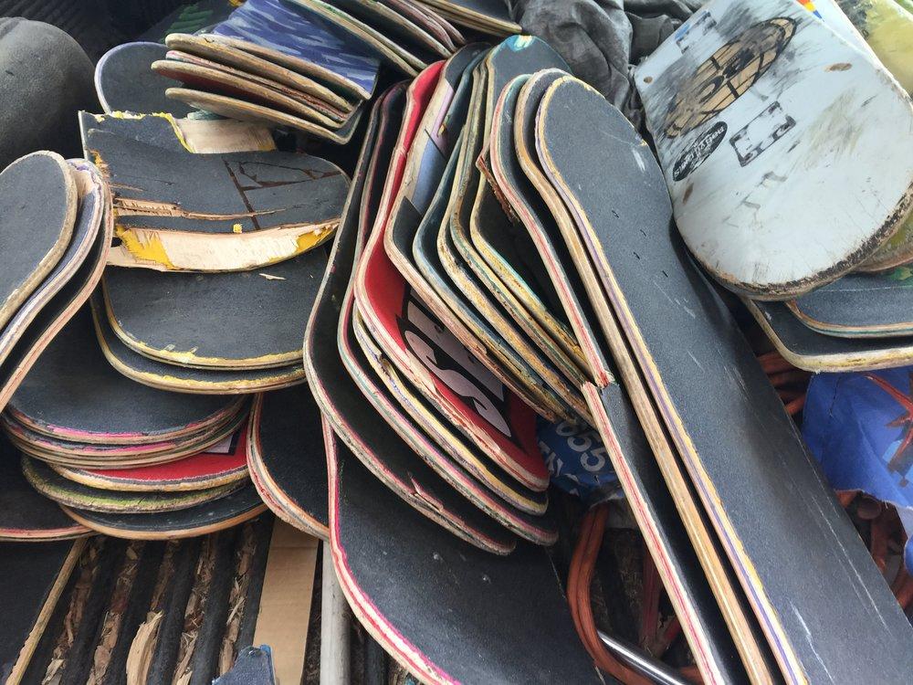 Pile of Skate Decks