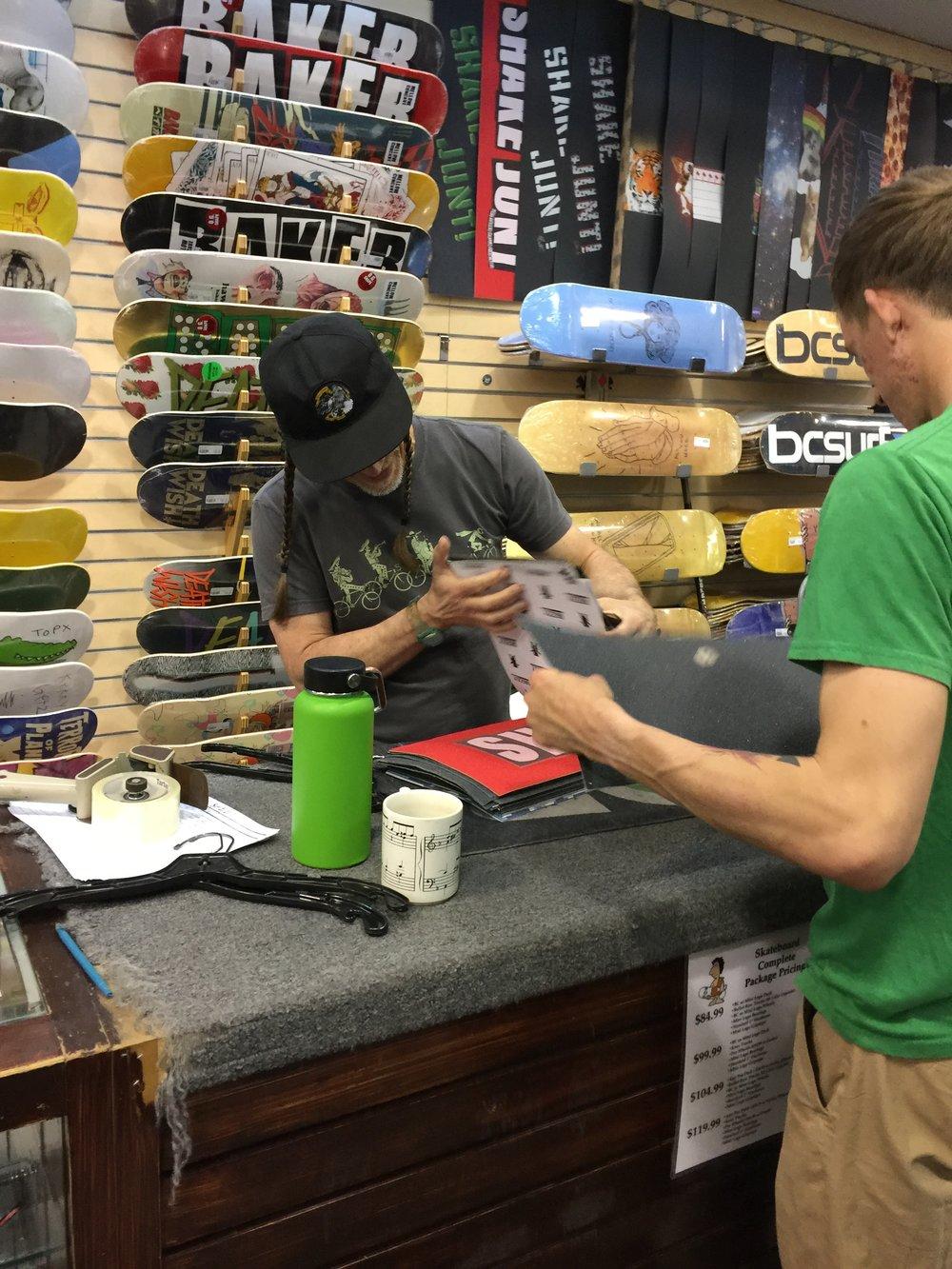 Rob Helping a Customer