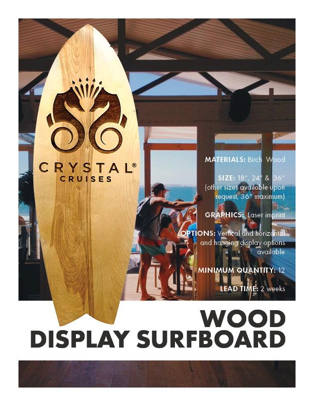 Wood Display Surfboard