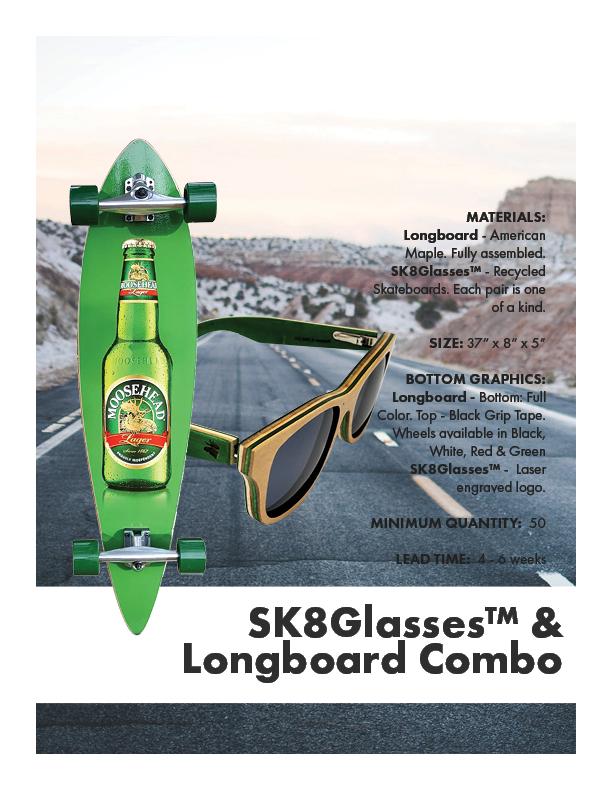 SK8Glasses & Longboard Combo
