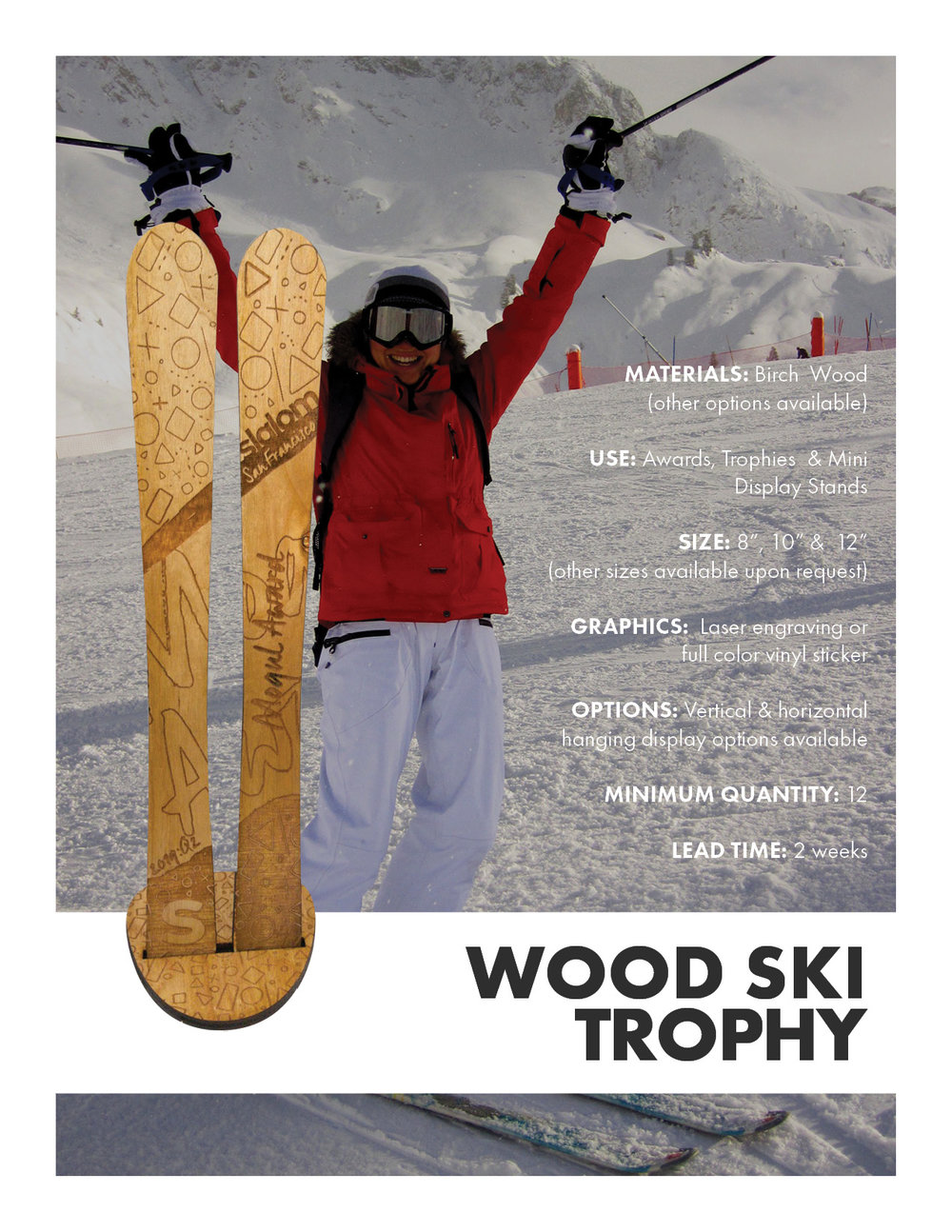 Wooden Skis Trophies & Awards