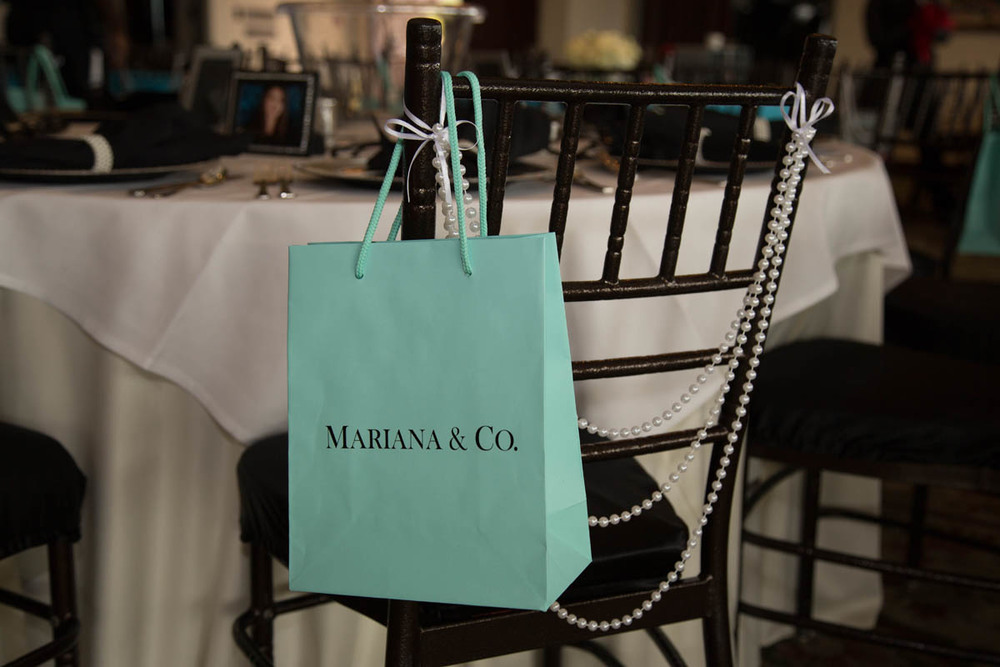 Breakfast at Tiffany's-themed Bat Mitzvah reception