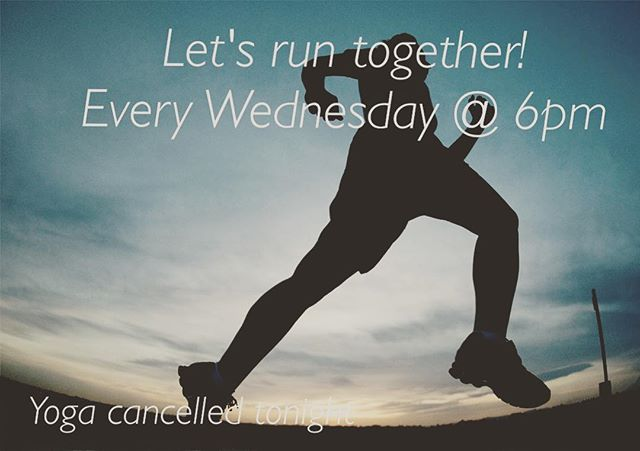Let's enjoy this beautiful weather together tonight by taking a group social run downtown at 6pm meet @sarunningco  Yoga is cancelled tonight. But let's get to running 🏃  #sarun #runsa #satx #socialrun