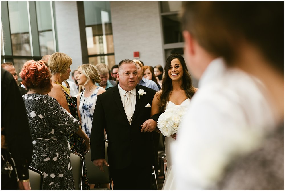 bride-father-walking-down-aisle-center-wedding-fort-wayne-indiana