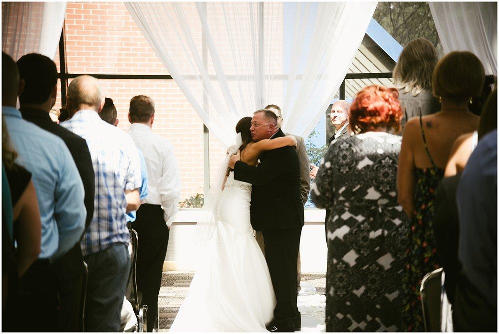 bride-father-embracing-aisle-center-wedding-fort-wayne-indiana