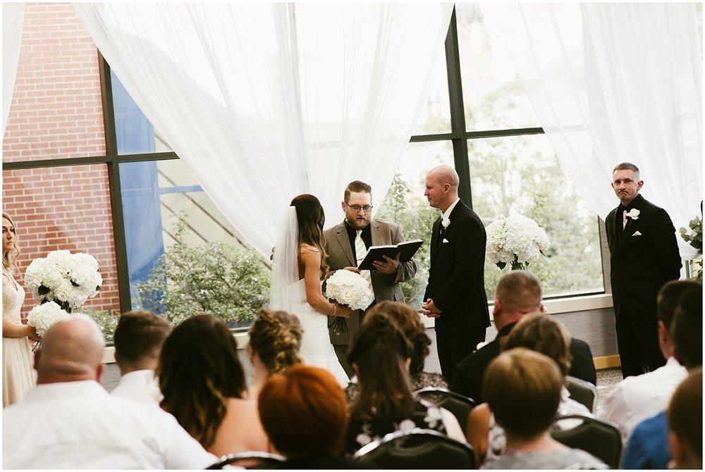 bride-groom-altar-ceremony-grand-wayne-center-fort-wayne-indiana