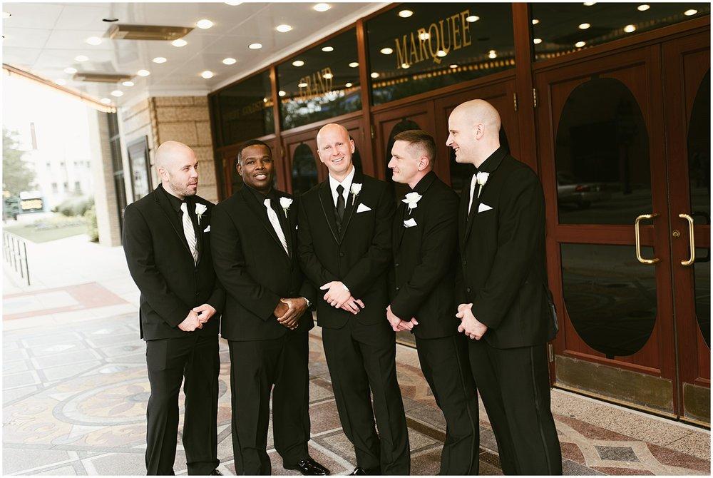groom-groomsmen-embassy-theatre-reception-wedding-fort-wayne-indiana