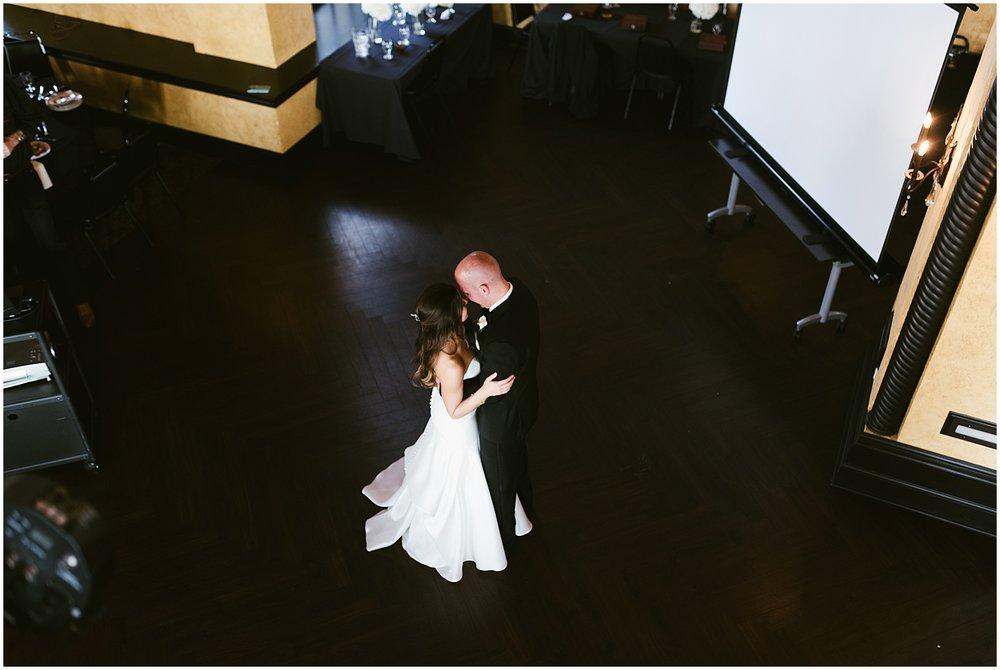 bride-groom-first-dance-balcony-embassy-theatre-ballroom-fort-wayne-indiana-wedding-photographer