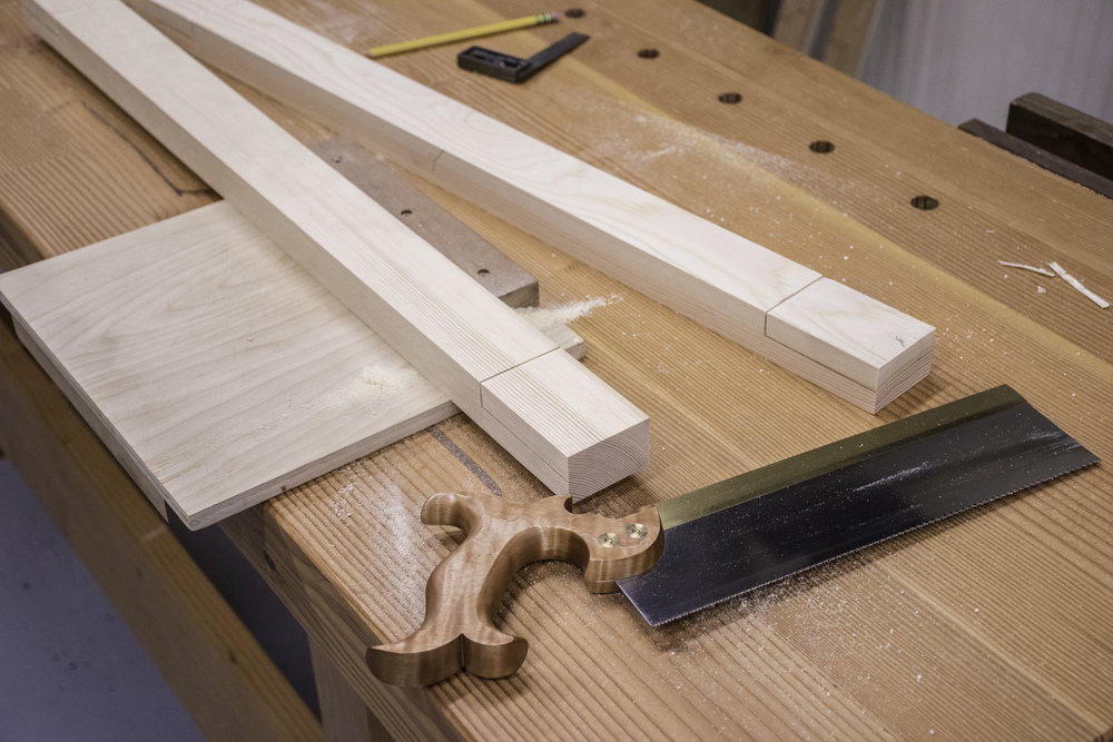 Saw the shoulder of the half lap joint...