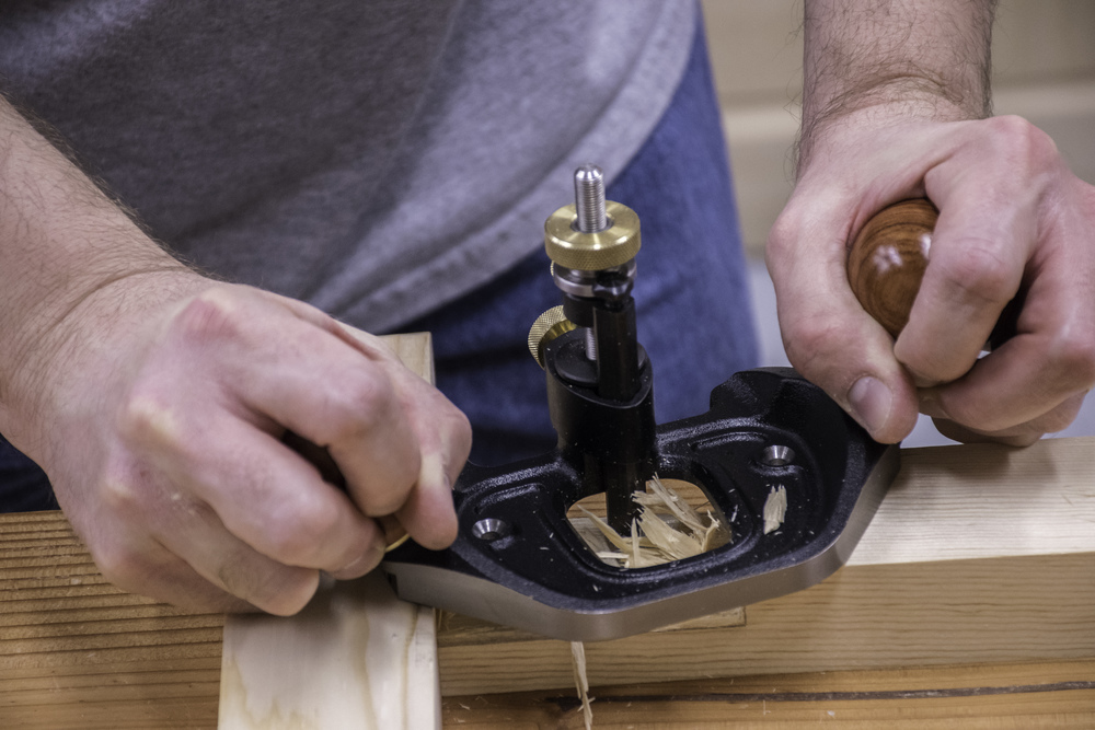 The router plane made everything flat and consistent.