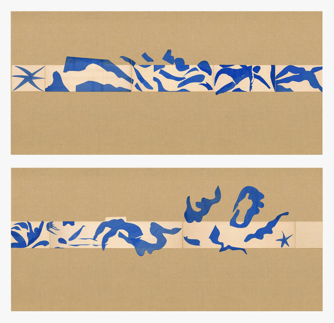 "Matisse, ""The Swimming Pool"" 1952""  - According to the New York Times the room sized work on nine panels is the highlight of the Matisse show at MoMa. On view  October 12 - Feb 8"