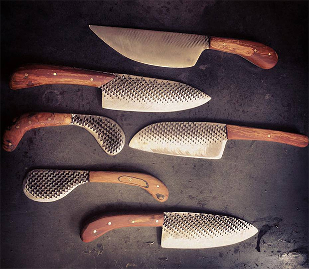 Chelsea Miller Knives - High carbon steel repurposed from a Vermont Farrier's horseshoe rasp. HHERE