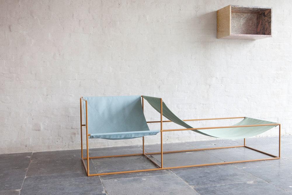seat bleu/green by Muller van Severen