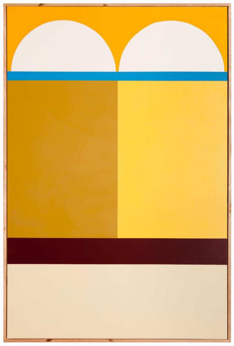 Esther Stewart     Why Can't We  , 2013,    enamel on board,   60 x 90 cm