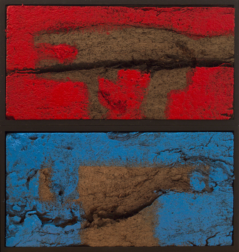 Red & Blue 30x30x6cm Oil on peat.jpg