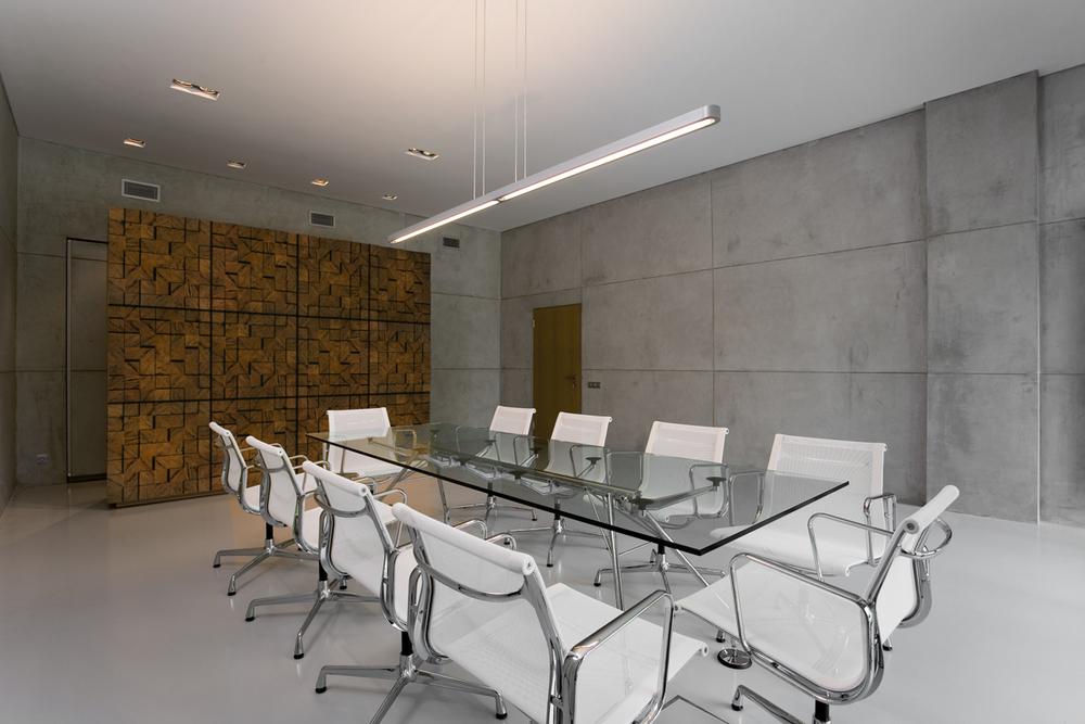 Peat Brick Wall - Office Interior