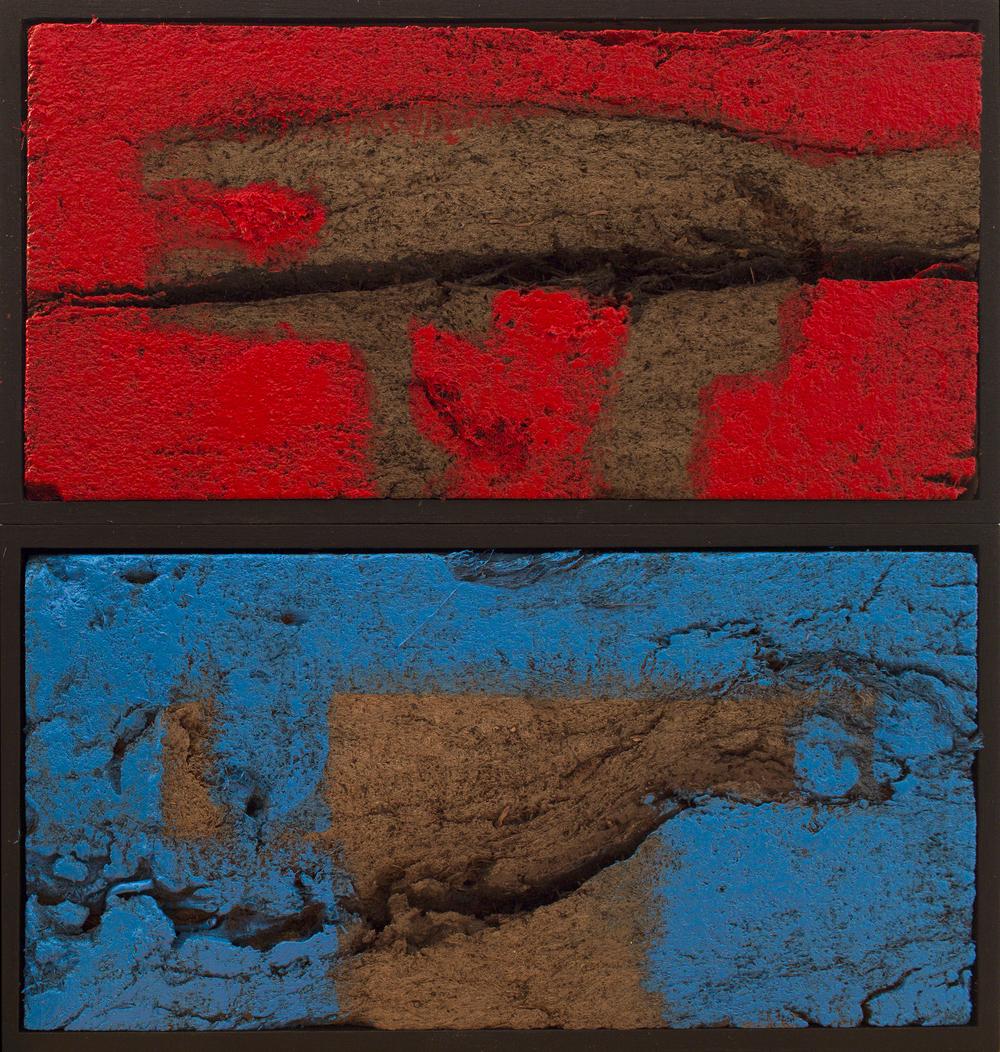 Red & Blue 30x30x6cm Oil on peat.jpg