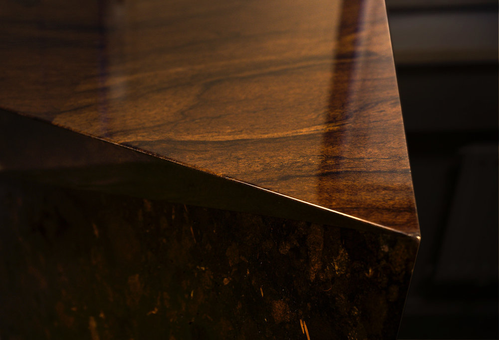 Fractions Peat Panel™ used on sides of the desk