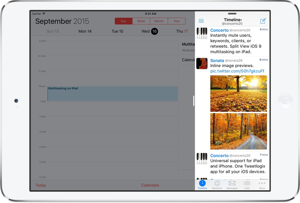 iOS 9 Slide Over Multitasking