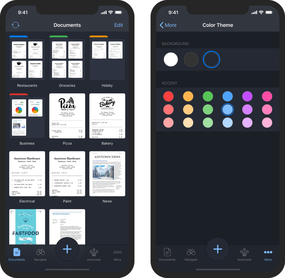 Customizable Color Themes in Paperlogix Pro 1.6