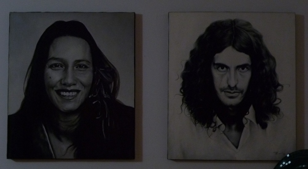 Portraits of Petunia and Marco, our hosts. Circa 1970.