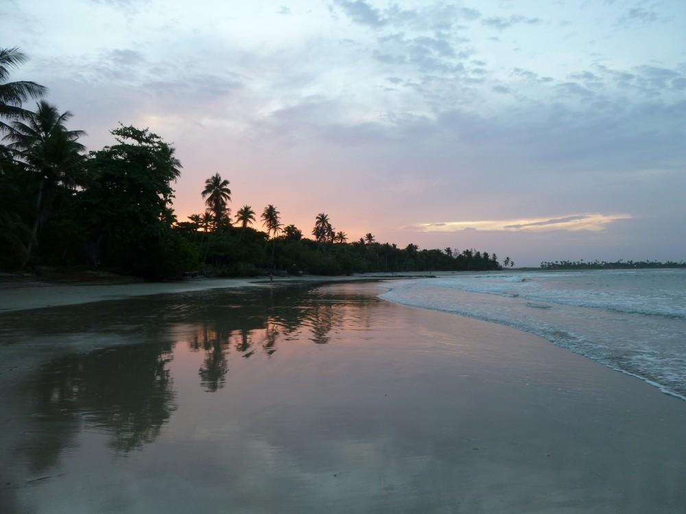 Gorgeous island sunset