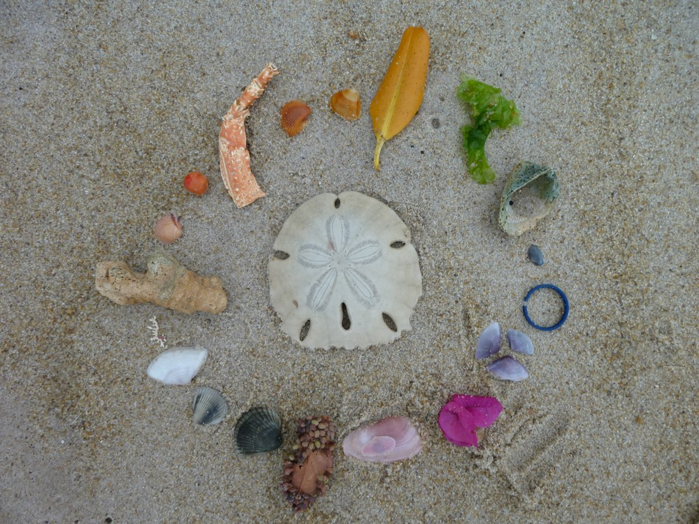 "We contributed some beach art to the island... we call it ""ROY G. BEACH"""
