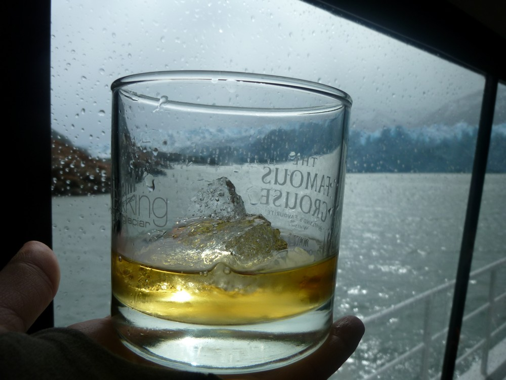 Whiskey on (glacial) ice