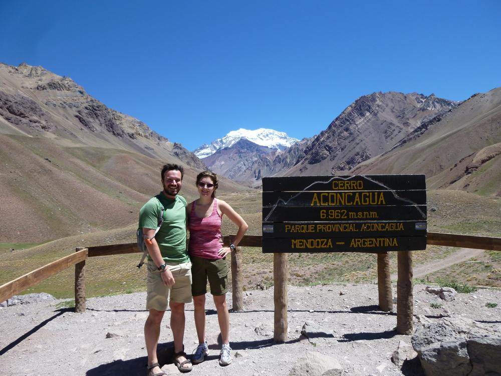 Aconcagua and Chris rockin' some Doc Brown hair thanks to the Andean winds...