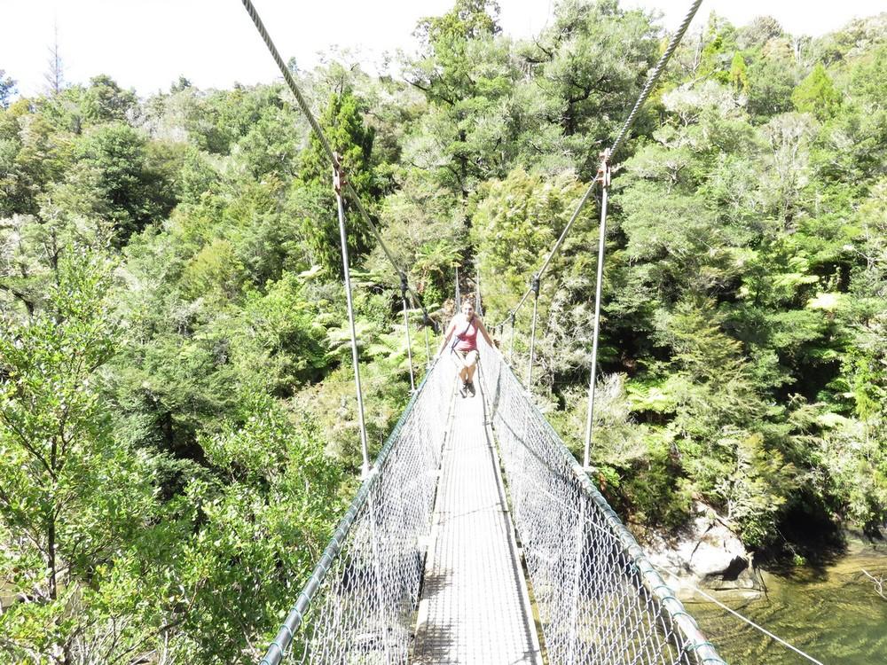Swing bridge to play on