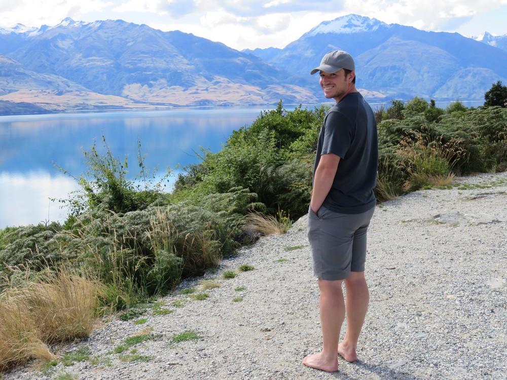 He's really Kiwi now, no shoes!