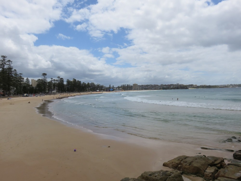 Manly beach, just mere miles from Sydney
