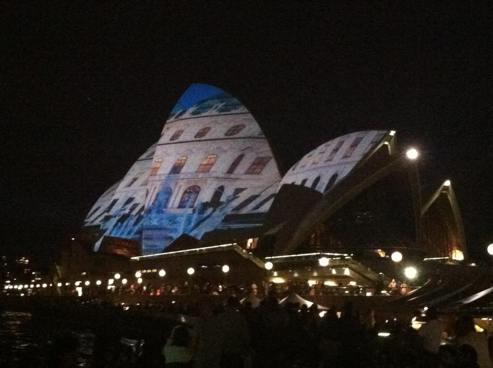Opera house evening style