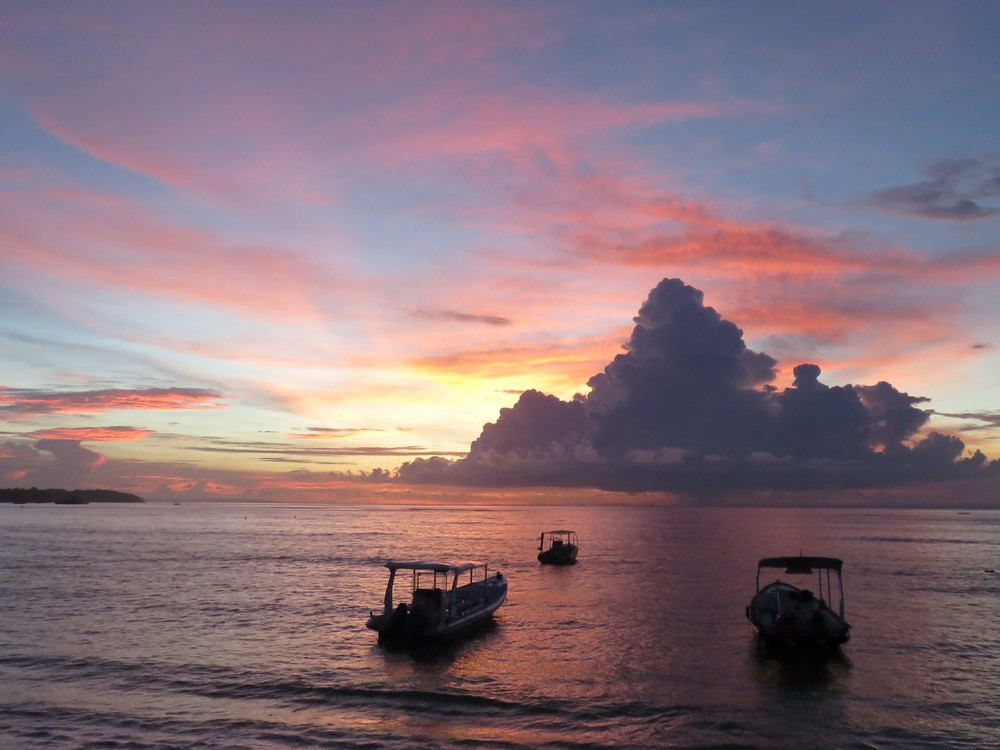 Sunset on Nusa Lembongan