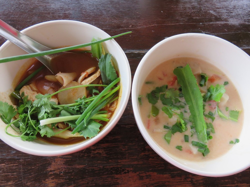 Soups, made from scratch, using ingredients from the garden